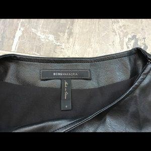 BCBG Leather Top